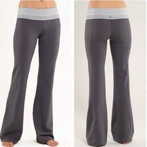 Lululemon groove flare pants gray